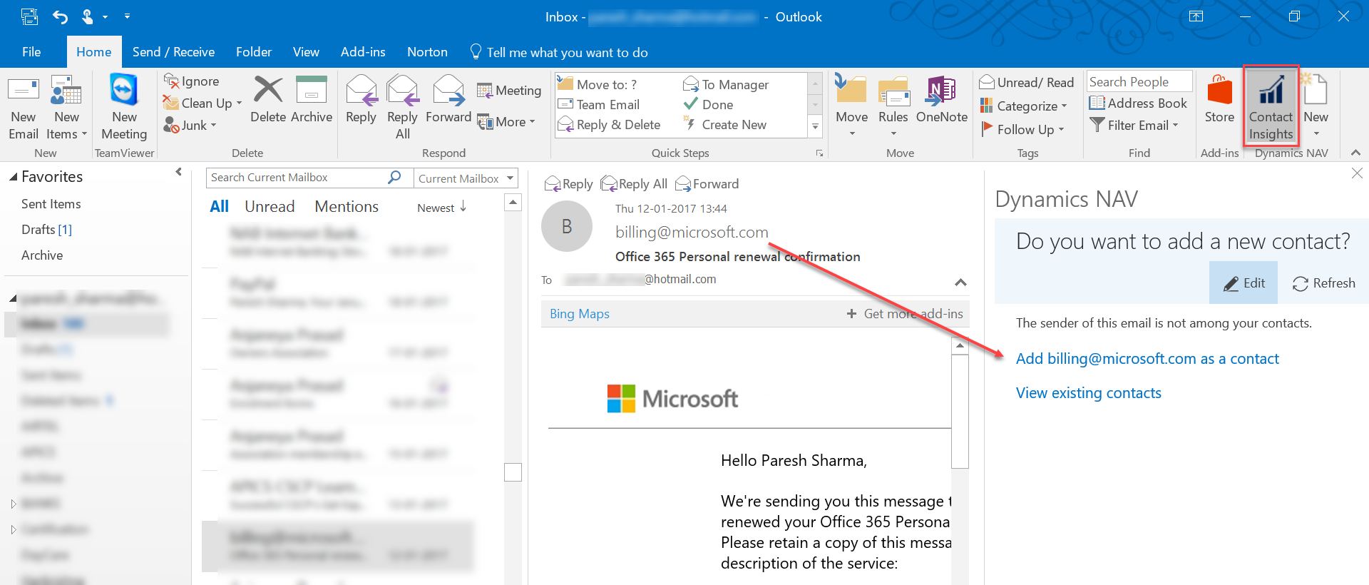 Microsoft dynamics nav resources dynamic business it solutions you can add contacts to nav from outlook xflitez Image collections