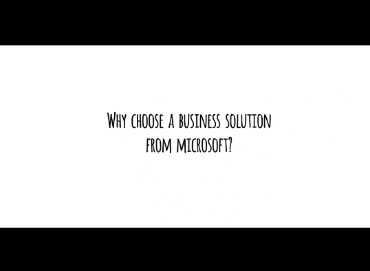 Why choose a business solution from Microsoft